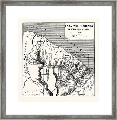 French Guiana, 1855 Framed Print by French School