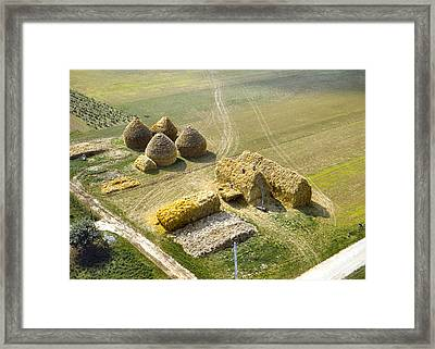 French Haystacks Framed Print by Chuck Staley