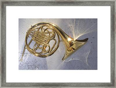 French Horn Iv Framed Print