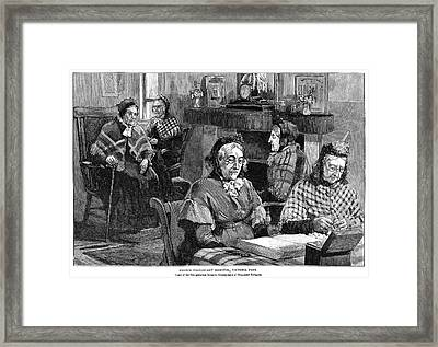 French Hospital Elderly Framed Print by Granger