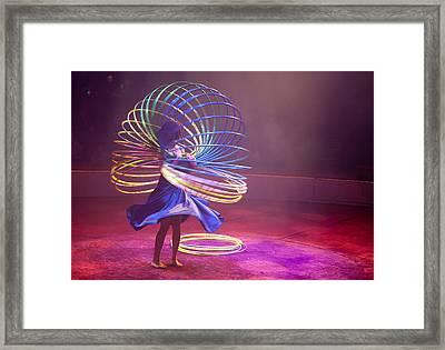 French Hula Hooping Framed Print by Matthew Bamberg