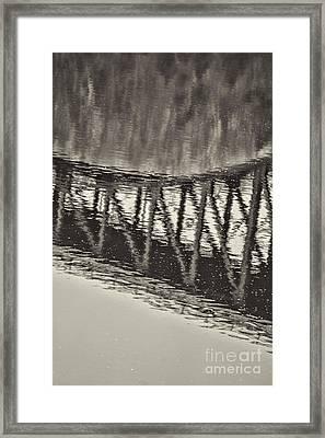 French King Bridge Bridge Framed Print by HD Connelly