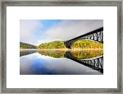French King Bridge Framed Print by Denis Tangney Jr