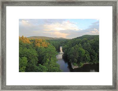 French King Bridge View Of Millers River Framed Print by John Burk
