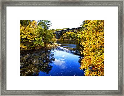 French King Bridge Framed Print