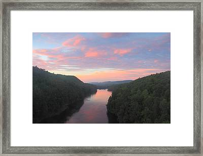 French King Gorge Connecticut River Sunset Framed Print by John Burk