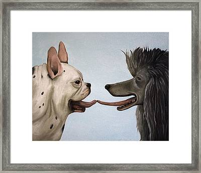 French Kiss Framed Print by Leah Saulnier The Painting Maniac