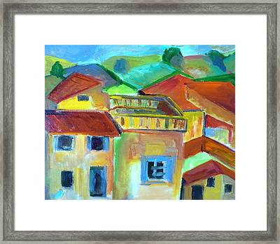 French Landscape Framed Print by Brenda Ruark