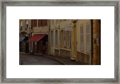 French Laneway Framed Print