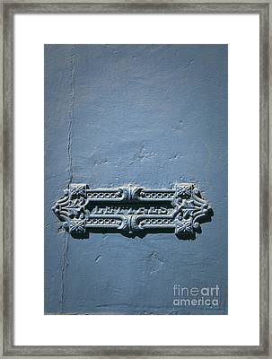 French Letter Slot Framed Print by Maria Heyens