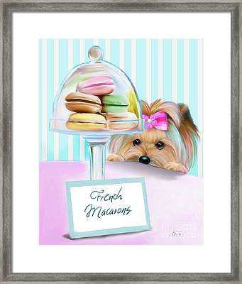 French Macarons Framed Print by Catia Cho