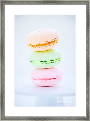 French  Macarons Cookies Framed Print by Edward Fielding