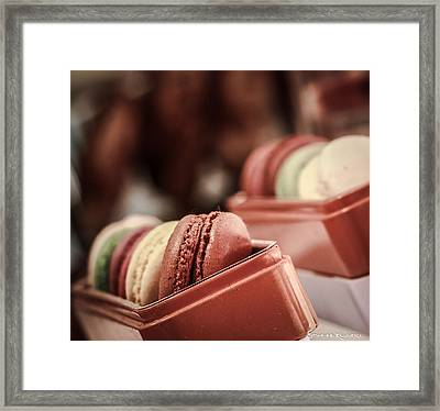 Framed Print featuring the photograph French Macaroons by Stwayne Keubrick