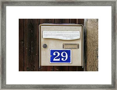 French Mailbox Number 29 Framed Print by Georgia Fowler