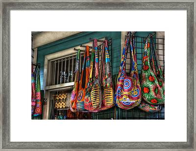 French Market Bags Framed Print