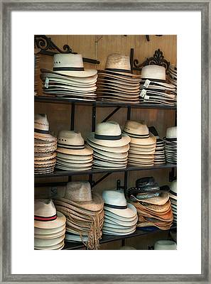 French Market Hats Framed Print
