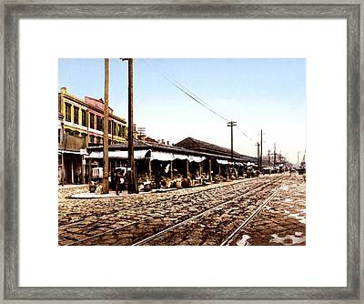 French Market New Orleans 1900 Framed Print by Unknown