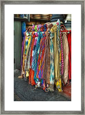 French Market Scarves Framed Print