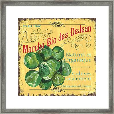 French Market Sign 1 Framed Print by Debbie DeWitt