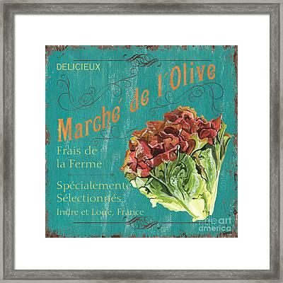 French Market Sign 3 Framed Print
