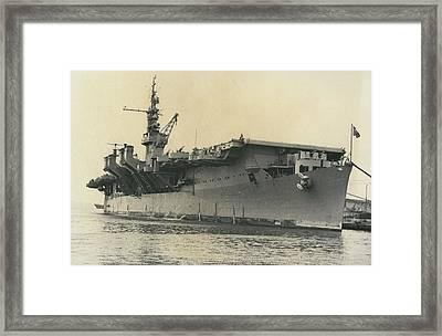 French Mediterranean Fleet Left Malta Framed Print by Retro Images Archive