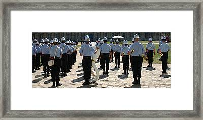 French Military Band Framed Print