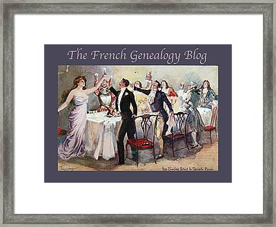 French New Year With Fgb Border Framed Print