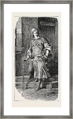 French Partisan Soldier 12th Century Framed Print
