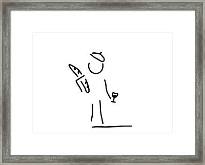 French Person Framed Print