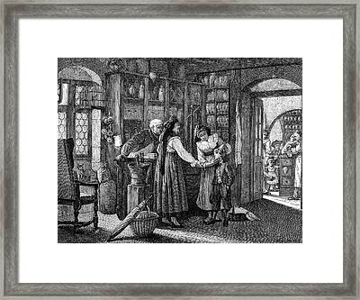 French Pharmacist Framed Print