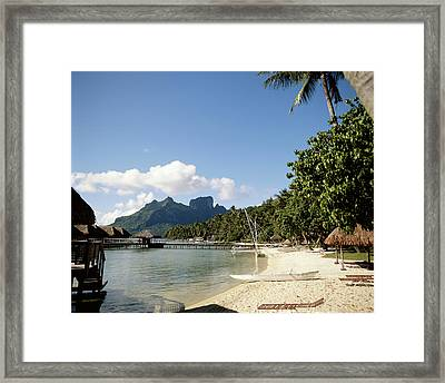 French Polynesia, Tahiti, View Framed Print