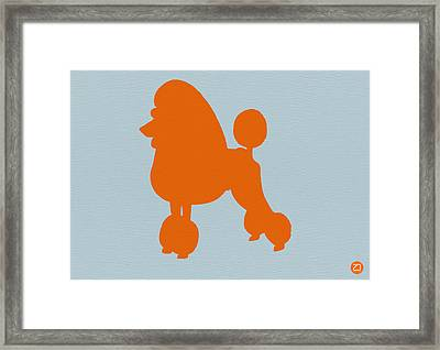 French Poodle Orange Framed Print by Naxart Studio