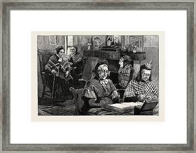 French Protestant Hospital Framed Print by English School