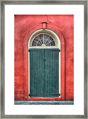 French Quarter Arched Door Framed Print by Brenda Bryant