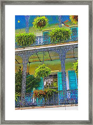 French Quarter Balcony 1 Framed Print by David Doucot
