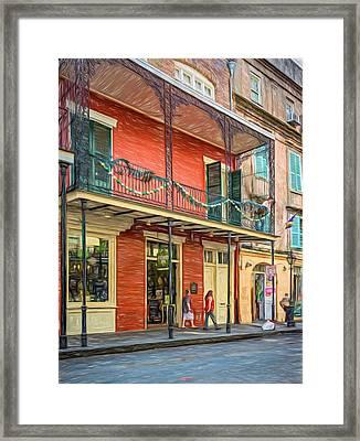 French Quarter Balcony - Paint Framed Print by Steve Harrington