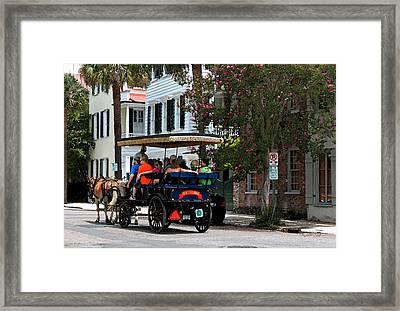 French Quarter - Charleston Sc Framed Print by Suzanne Gaff
