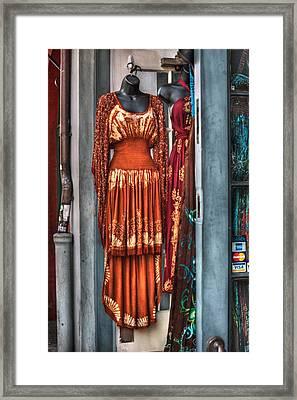 French Quarter Clothing Framed Print by Brenda Bryant