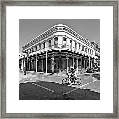 French Quarter Connection Framed Print