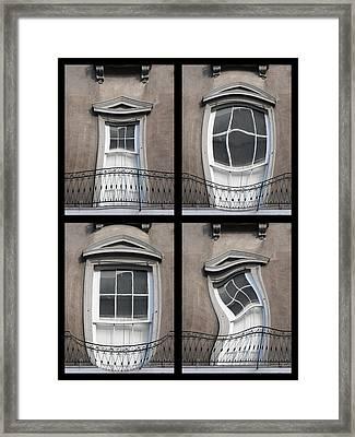 French Quarter Distorted Door Framed Print