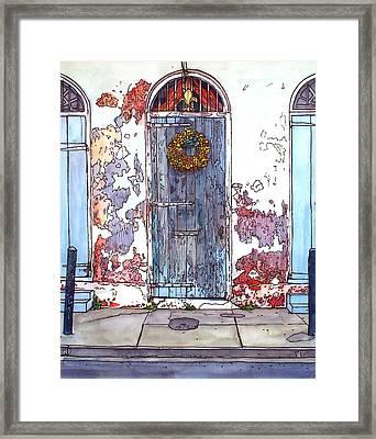 French Quarter Door Framed Print by John Boles