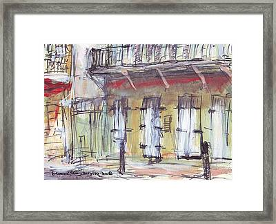 French Quarter  Framed Print by Edward Ching