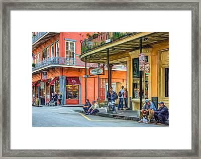 French Quarter - Hangin' Out 2 Framed Print