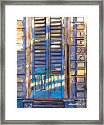 French Quarter House 1208 Framed Print by John Boles