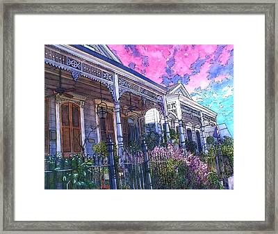 French Quarter Houses 377 Framed Print by John Boles