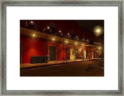 French Quarter In Red Framed Print by Stellina Giannitsi