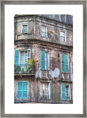 French Quarter Landmark Framed Print