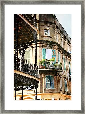 Framed Print featuring the photograph French Quarter Morning by Heather Green