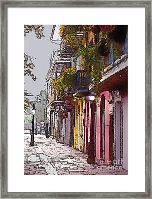 French Quarter New Orleans Framed Print by Linda  Parker
