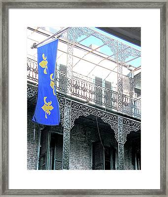 Framed Print featuring the photograph French Quarter Nola by Lizi Beard-Ward